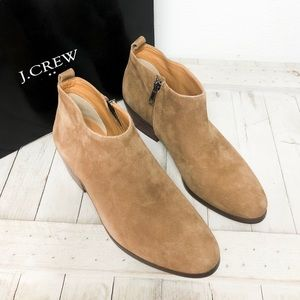 J.Crew Suede leather boots, Size 6 1/2.